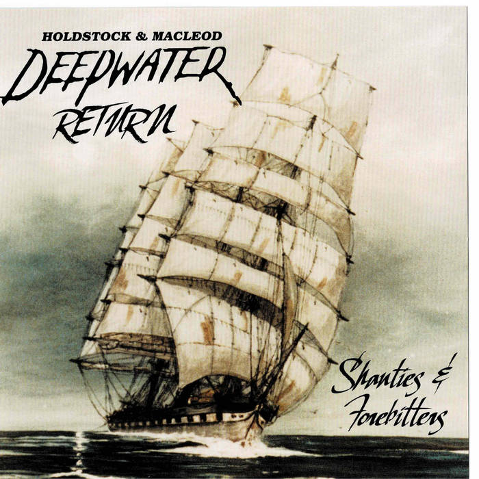 Album cover of a boat on the ocean. Album is titled Deepwater Return.
