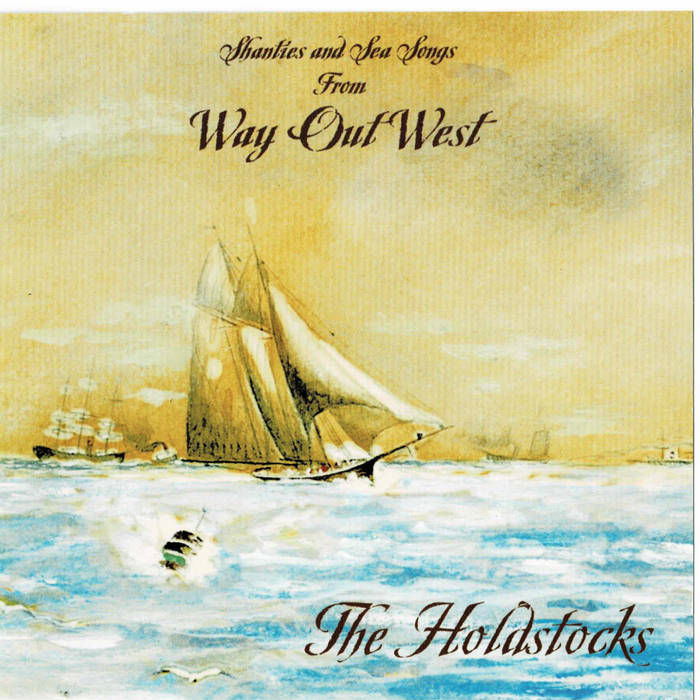 Album cover of a boat on the ocean. The album is titled Way Out West.