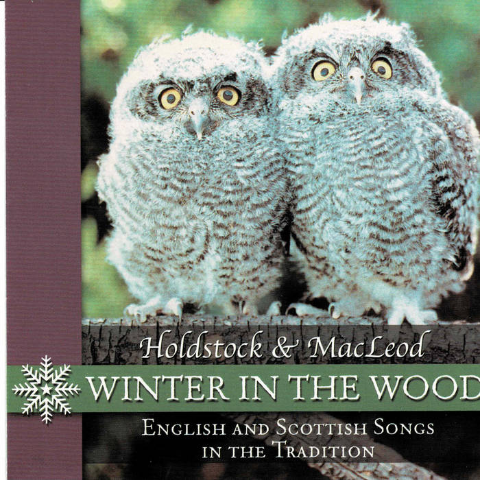 Album cover of two owls looking into the camera. Album is titled Winter in the Wood.